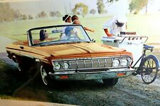 1964 Plymouth Fury convertible Magazine clippings advertisement Ad