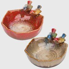 Antique Ceramic Bird Bath Garden Outdoor Decor Vintage Bird Feeder Modern Bowls