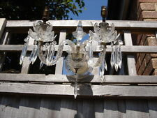 CRYSTAL CHANDELIER WALL LIGHT SCONCE 2 ARMS