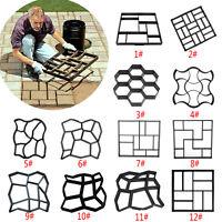 DIY Plastic Path Maker Pavement Model Concrete Stepping Stone Cement Maker Mould