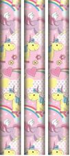 3 Unicorn Gift Wrap Roll Wrapping Paper 2m Xmas Wedding Birthday Kids Party