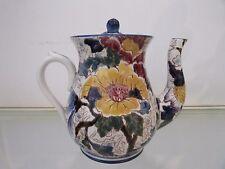 """théière faience de Gien """"Mauves-Pivoines"""" 1941 Gien pottery teapot"""