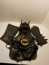 N BATMAN Keaton Costume Cosplay vinyl vintage Cowl Chest Boots Licensed 1989
