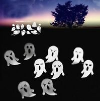 Mini Ghost Face Ear Studs Silver Plated Earrings Halloween Jewelry Gifts