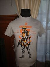Licensed Mens Star Wars Rogue One Shore Trooper T-Shirt Gray Orange Small