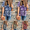 Women Summer Camouflage Short Sleeve Casual T Shirt Tops Blouse Ladies Loose Tee
