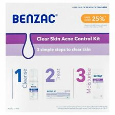 Benzac Clear Skin Acne Control Kit *3 Step - Cleanser, Treatment & Moisturiser*