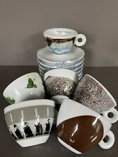 New listing 2001 Illy espresso Ps1 Cappuccino Set of 6 coffee cups & saucers Wtc 9/11 memory