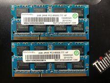 Original RAMAXEL 4GB 2x2GB PC3-8500s DDR3-1066MHz 2Rx8 Laptop Memory RAM 204 Pin