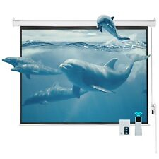 """100"""" 4:3 Electric Motorized Projector Projection Screen Remote Control Movie Hd"""