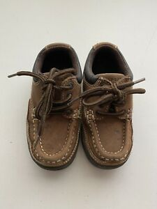 Toddler Gymboree Gymsport lace up leather shoes size 7M