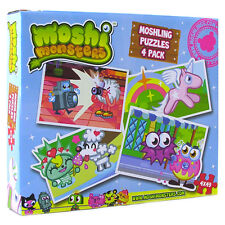 Moshi Monsters Moshling Rompecabezas 4 Pack