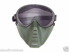 Airsoft Mesh Shooting Goggles Mask Anti BB Full Face No Fog OD Protective (168)