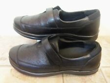 Apex A700W Loafers Men Shoes Black Leather Diabetic 9.5 X Wide New