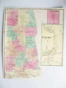 Vintage 1874 Map – Taberg, Glenmore in Oneida County NY