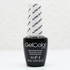 OPI GelColor LED Gel Nail Polish White Color 15ml 0.5 fl oz Alpine Snow #GCL00
