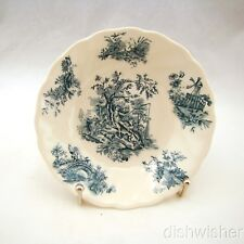 "Johnson Bros PASTORALE TOILE DE JOUY Blue Fruit/Dessert Bowl(s) 5 1/4"" x 1"" EXC"