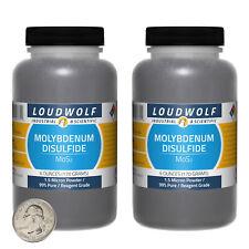 Molybdenum Disulfide / 12 Oz / 2 Bottles / 99% Reagent Grade / 1.5 Micron Powder
