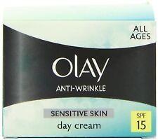 Olay 50ml Anti-wrinkle Sensitive and Natural Gentle Moisturiser Day Cream Spf15