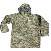 Military Air Force Windbreaker Mens Size L Tiger Stripe Environmental Lined Camo