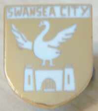 SWANSEA CITY FC Vintage club crest type badge Stud ftting In gilt 12mm x 15mm