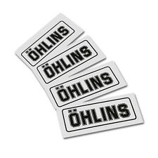 OHLINS replacement BLACK on clear  decals graphics stickers x 4 pieces SMALL