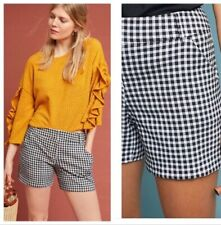 Samantha Dru At Anthropologie $78 Molly Plaid Shorts size 6