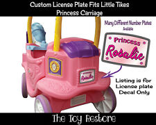 License Plate Decals fits Little Tikes Princess Carriage Ride Toy Pink Princess