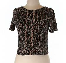 NWT Theory Pink Multi Open Back Cash Crop Top Size Large
