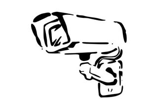 BANKSY STYLE CCTV STENCIL REUSABLE FROM A4 180 mc