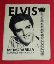 """Elvis """"Memorabilia Catalog & Price Guide"""" by Canady Pictures and Prices 1981"""