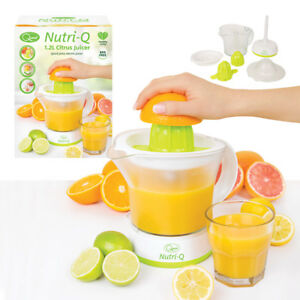 Quest Nutri-Q Compact Electric Citrus Juicer Fruit Press Extractor 1.2 Litre Jug