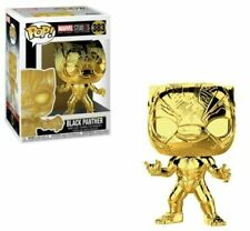Funko Pop Black Panther Gold Chrome 383 Marvel Studios The First 10 Years