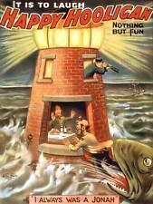 FUMETTI COVER felice tifoserie violente pesce JONAH Hobo FARO art print poster bb7799