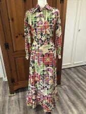 New listing Ruth Matthews Designs Vintage 70s Plaid & Floral Top & Flounced Maxi Skirt Set S