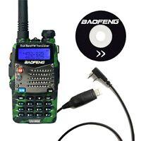 Baofeng UV-5RA Green Dual Band UHF/VHF FM Two Way Radio + UV-5R A USB Cable US