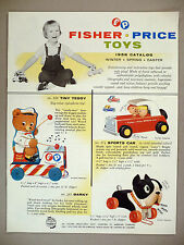Fisher-Price Toy CATALOG - 1958 ~~ toys ~~ like-new condition ~~ original