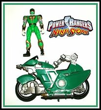 Power Rangers Ninja Storm _ Green Glider Cycle with Ranger_ ** Complete **