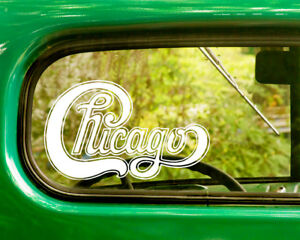 2 CHICAGO BAND DECAL Bogo Stickers For Car Truck Window Bumper Laptop Jeep