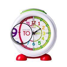 Reloj Despertador Infantil Verde Time Teacher con Luz Nocturna Aprende Ingles
