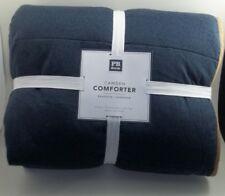Pottery Barn Teen Camden Comforter Quilt Xl Twin Faded Navy & Tan #119