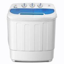 Mini Washing Machine Compact Twin Tub Washer Spin & Dryer 13 Lbs Dorm Apartment