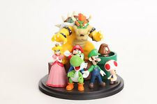 7Pcs/set Super Mario Bros Set Figuras de acción, PVC Anime Figura Coleccionable Juguetes