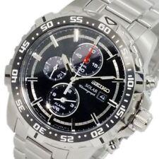 Seiko SSC299P1 Solar Alarm Chronograph Stainless Steel Mens Watch