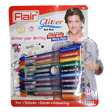 Pens Flair Glitter Gel Pen 20 Sparkling Color  For Tattoos, Cards, & Coloring's