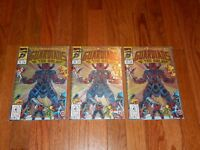 Lot of 3 Guardians of the Galaxy #25 June 1992 Marvel Comic Books Poly Bag