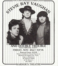 Stevie Ray Vaughan Double Trouble MEGA RARE 1984 Fresno Concert Handbill Poster