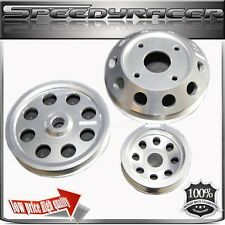 Crank Pulley for 89-98 Nissan 240SX S14 S15 SR20  Aluminum Performance SILVER