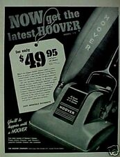 1949 Hoover Vacuum Sweeper Household Appliance Print AD