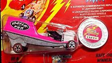1993 JOHNNY LIGHTNING MOVIN' VAN PINK COMMEMORATIVE LIMITED EDITION CHALLENGER